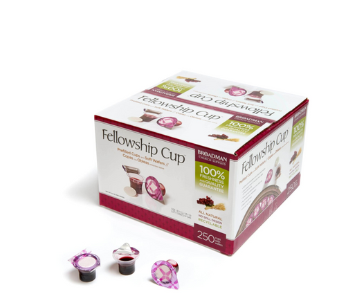 Fellowship Cup ® – pre-filled communion cups – juice and wafer – 250 Count Box