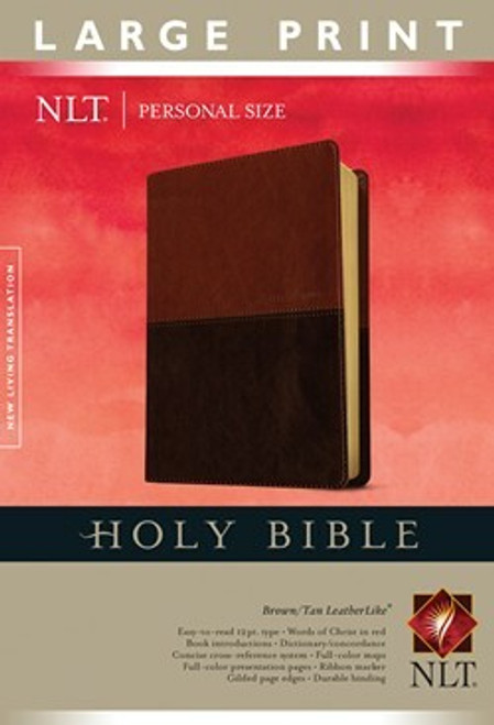 NLT Holy Bible, Personal Size Large Print edition, Brown/Tan Leatherlike