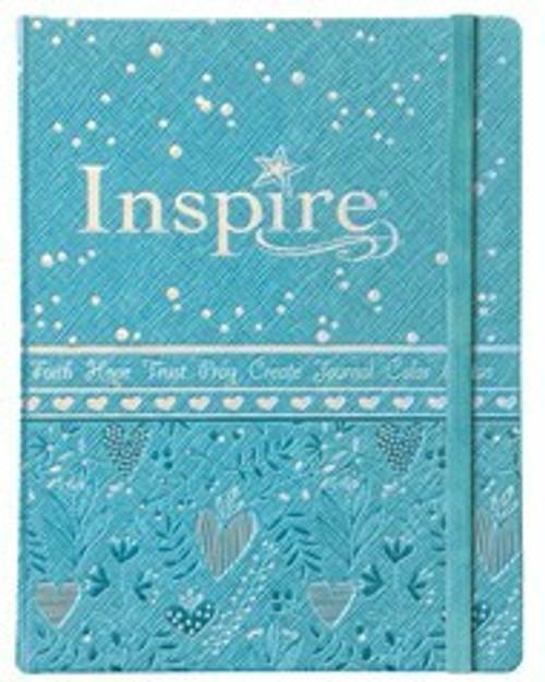 NLT Inspire Bible for Girls, Metallic Blue LeatherLike Hardcover