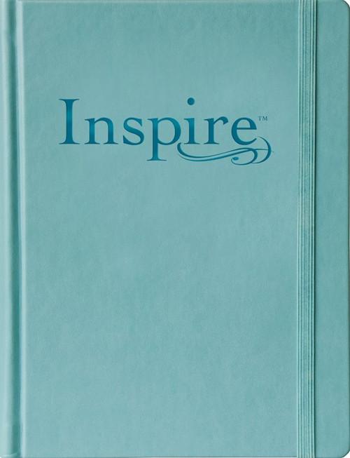 NLT Inspire Bible, Large Print, Tranquil Blue LeatherLike over Hardcover