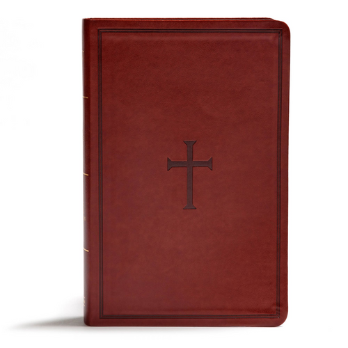 KJV Giant Print Reference Bible, Brown LeatherTouch, Indexed