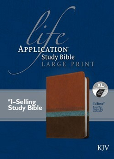 KJV Life Application Study Bible, Second Edition, Large Print, Blue and Brown, Indexed