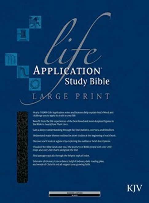 KJV Life Application Study Bible, Second Edition, Large Print, Bonded Leather, Black, Indexed