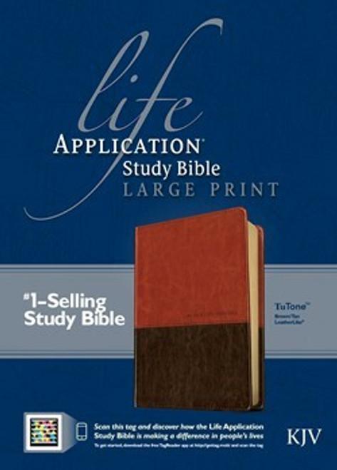 KJV Life Application Study Bible, Second Edition, Large Print, Leatherlike Brown and Tan
