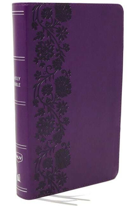 NKJV, End-Of-Verse Reference Bible, Personal Size Large Print, Leathersoft, Purple, Red Letter, Comfort Print