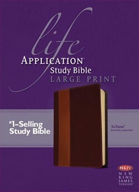 NKJV Life Application Study Bible 2nd Edition, Large Print, Brown/Tan LeatherLike