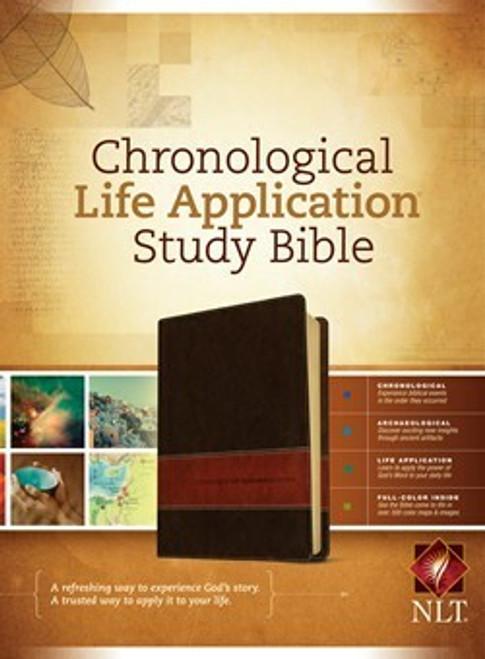 NLT Chronological Life Application Study Bible, Brown/Tan LeatherLike