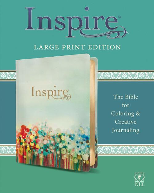 NLT Inspire Bible Large Print, Multicolor LeatherLike