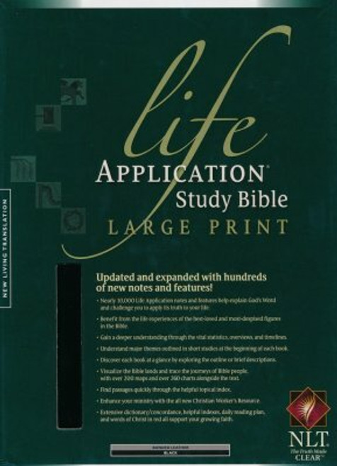 NLT Life Application Study Bible 2nd Ed  Large Print, Black Bonded Leather, Indexed
