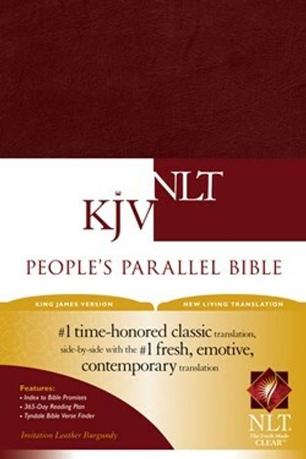 KJV/NLT People's Parallel Bible, Burgundy Imitation Leather