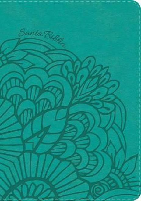 RVR 1960 Biblia Letra Grande Tamaño Manual Aqua, Símil Piel Con Indice