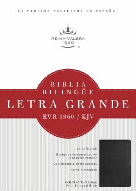 RVR 1960/KJV Biblia Bilingüe Letra Grande, negro imitación piel con índice