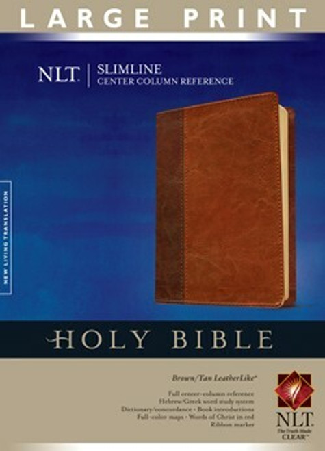 NLT Slimline Center Column Reference Bible, Large Print, Indexed