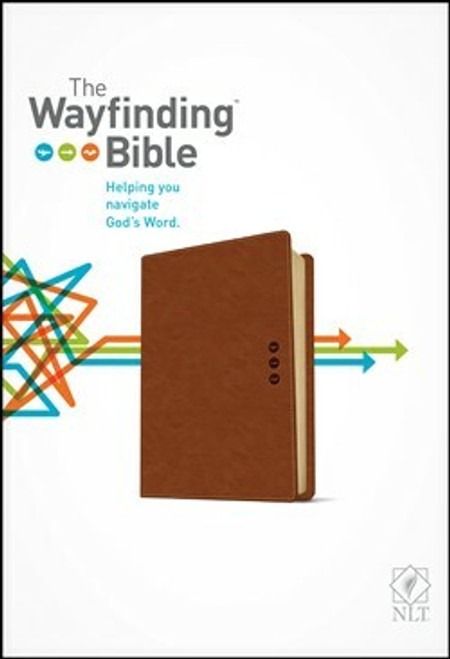 The Wayfinding Bible NLT, Leatherlike, Brown