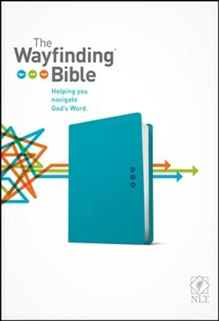 The Wayfinding Bible NLT, Leatherlike, Teal