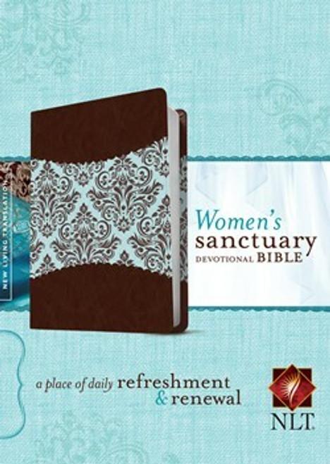 Women's Sanctuary Devotional Bible NLT, Leatherlike, Espresso