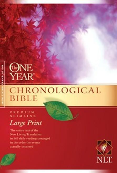 The One Year Chronological Bible NLT, Premium Slimline Large Print