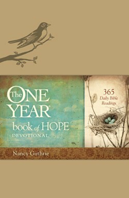 The One Year Book of Hope Devotional Leatherlike Cover By Nancy Guthrie