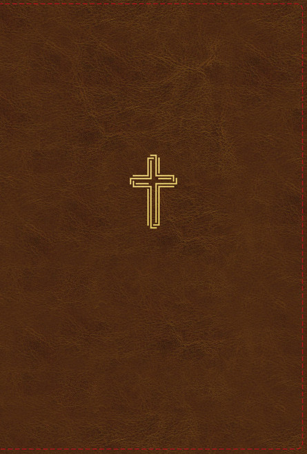 NASB, Thinline Bible, Large Print, Leathersoft, Brown, Red Letter, 1995 Text, Thumb Indexed, Comfort Print