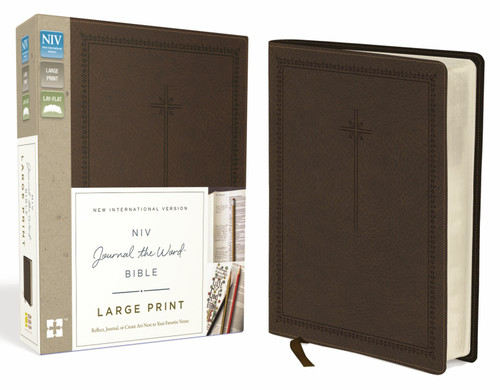 NIV Journal The Word Bible, Large Print, Brown Leathersoft