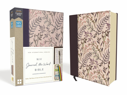 NIV, Journal The Word Bible, Cloth Over Board, Pink Floral, Red Letter, Comfort Print