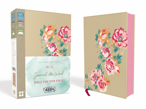 NIV Journal The Word for Teen Girls, Gold Floral Leathersoft Over Board