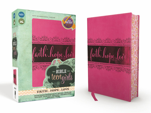 NIV Bible for Teen Girls, Pink Leathersoft, Printed Page Edges