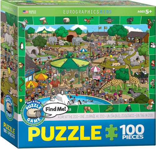 A Day At The Zoo 100 Piece Puzzle