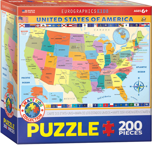 Map Of The US 200 Piece Puzzle
