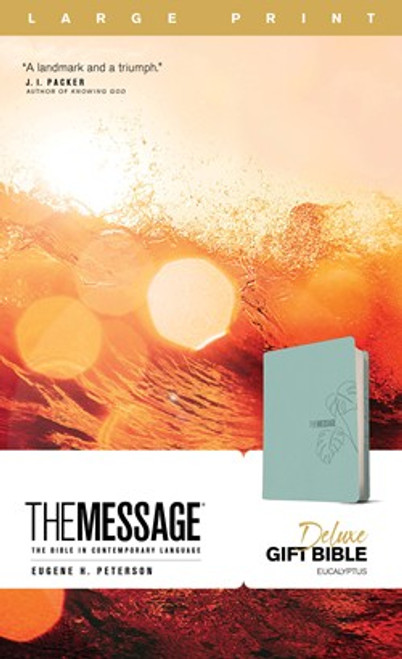 The Message Deluxe Gift Bible, Large Print, Leather-Like, Teal