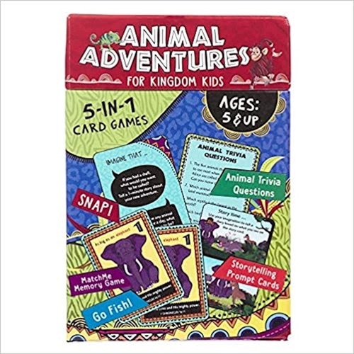 Animal Adventures for Kingdom Kids 5-in-1 Card Games