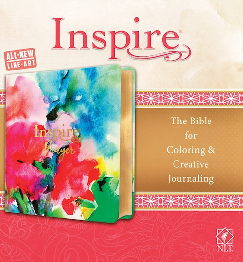 NLT Inspire PRAYER Bible, Joyful Colors LeatherLike with Gold Foil Accents