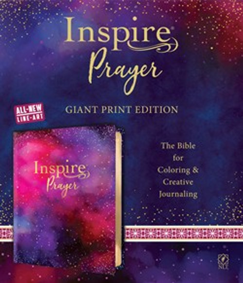 Inspire Prayer Bible Giant Print NLT, Purple, Leatherlike