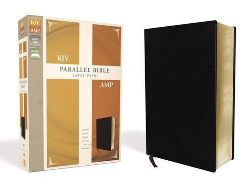 KJV/AMP Parallel Bible, Large Print, Black Bonded Leather