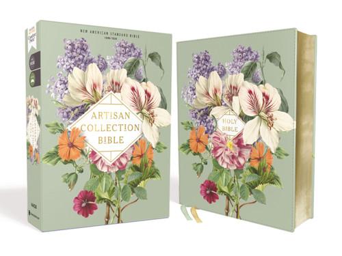 NASB Artisan Collection Bible, Sage Floral Leathersoft, 1995 Text, Comfort Print