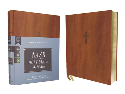 NASB Bible, XL Edition, Brown Leathersoft, 1995 Text, Comfort Print