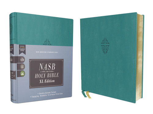 NASB Bible, XL Edition, Teal Leathersoft, 1995 Text, Comfort Print