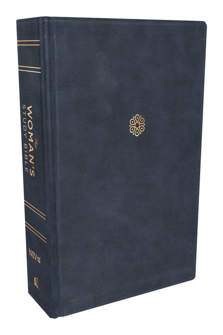 NIV The Woman's Study Bible, Blue Leathersoft, Thumb-indexed