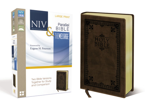 NIV/The Message Parallel Bible, Large Print, Brown Leathersoft