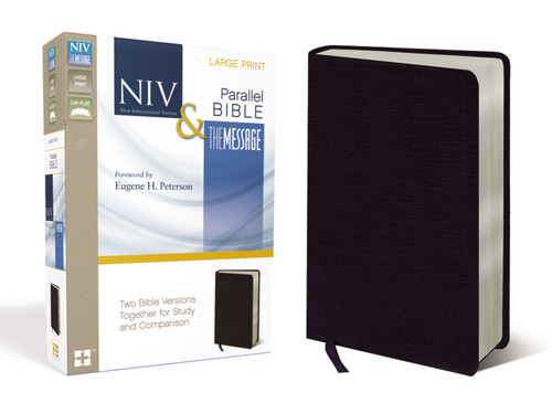 NIV/The Message Parallel Bible, Large Print, Black Bonded Leather