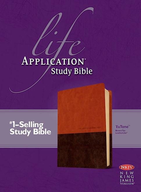 NKJV Life Application Study Bible 2nd Edition, Brown/Tan LeatherLike