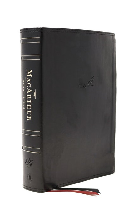 ESV MacArthur Study Bible, 2nd Edition, Black Leathersoft, Thumb Indexed