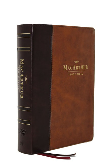 ESV MacArthur Study Bible, 2nd Edition, Brown Leathersoft, Thumb Indexed