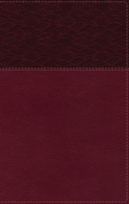 NASB Thinline Bible, Large Print, Burgundy Leathersoft, Red Letter Edition, 2020 Text, Thumb Indexed, Comfort Print