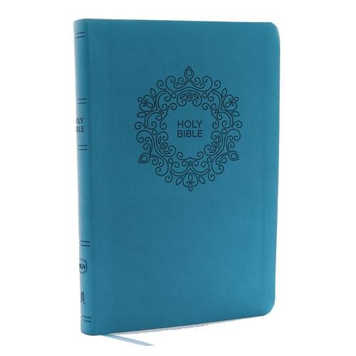 NKJV, Value Thinline Bible, Large Print, Imitation Leather, Blue, Red Letter Edition