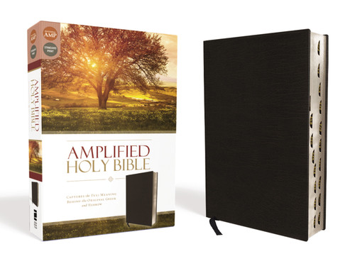 Amplified Holy Bible, Black Bonded Leather, Indexed