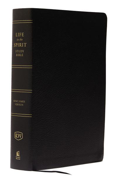 KJV Life in the Spirit Study Bible, Black, Bonded Leather, Indexed