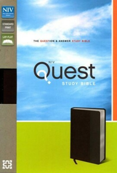 NIV Quest Study Bible, Brown/Gray Leathersoft