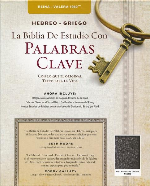 RVR 1960 Biblia de Estudio Palabras Claves Hebreo-Griego, Piel Esp. Negra
