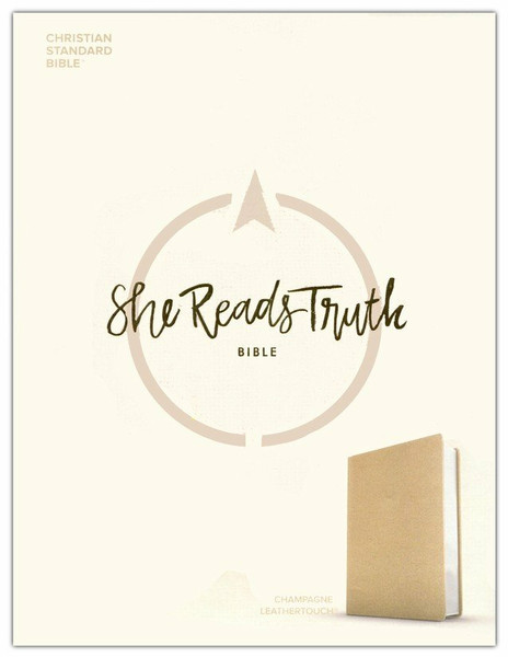 CSB She Reads Truth Bible, Champagne Gold LeatherTouch